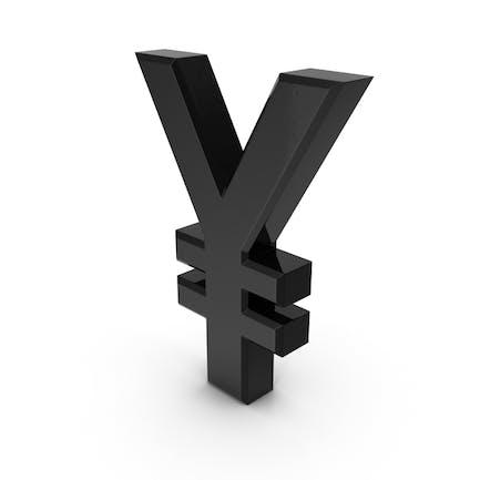 Japanisches Yen-Währungssymbol Kunststoff