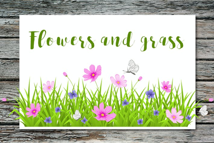 Thumbnail for Flowers and grass