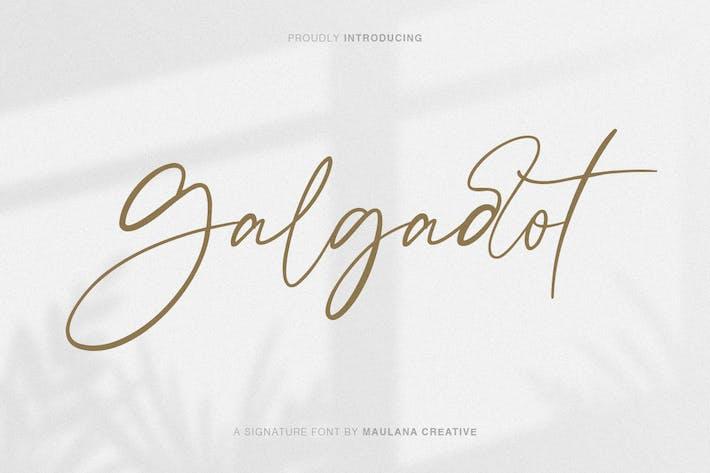 Thumbnail for Шрифт кисти для подписи Galgadot