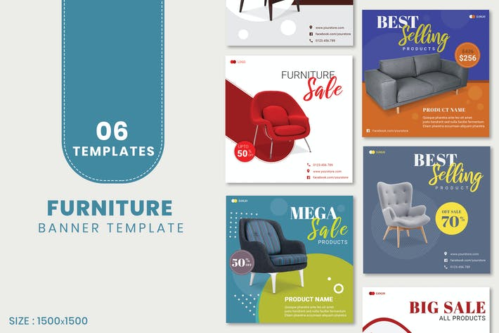 Thumbnail for Furniture Sale Banner Template