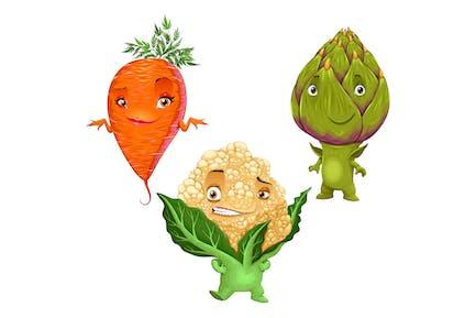 Carrot, Cauliflower and Artichoke