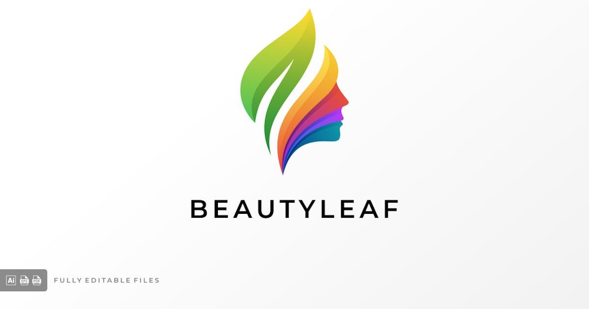 Download Beauty Leaves Gradient Colorful Logo by ivan_artnivora