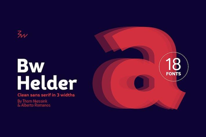 Thumbnail for Bw Helder font family