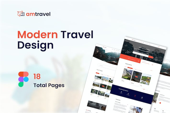 Thumbnail for Am Travel - Travel Website Figma Template