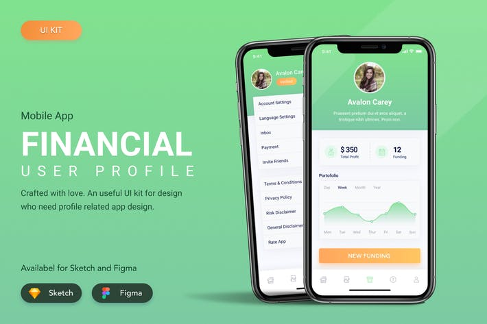Thumbnail for Financial User Profile UI KIT Template