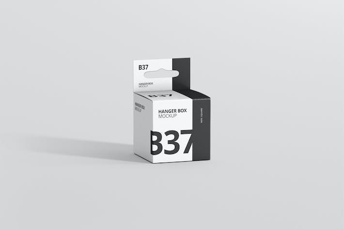 Thumbnail for Box Mockup - Mini Square with Hanger