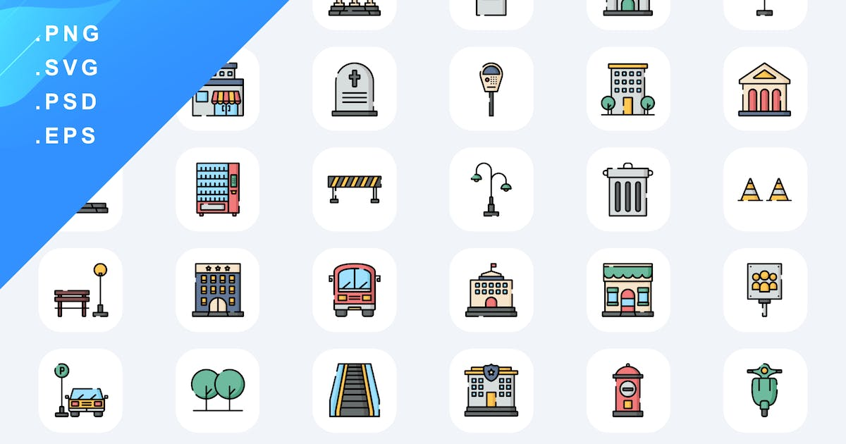 Download 50 Urban Icons by Guapoo