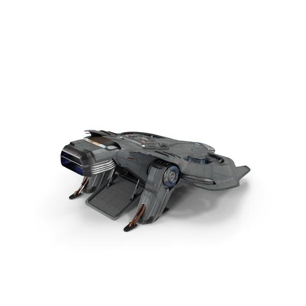 Sci Fi Dropship Landing Position