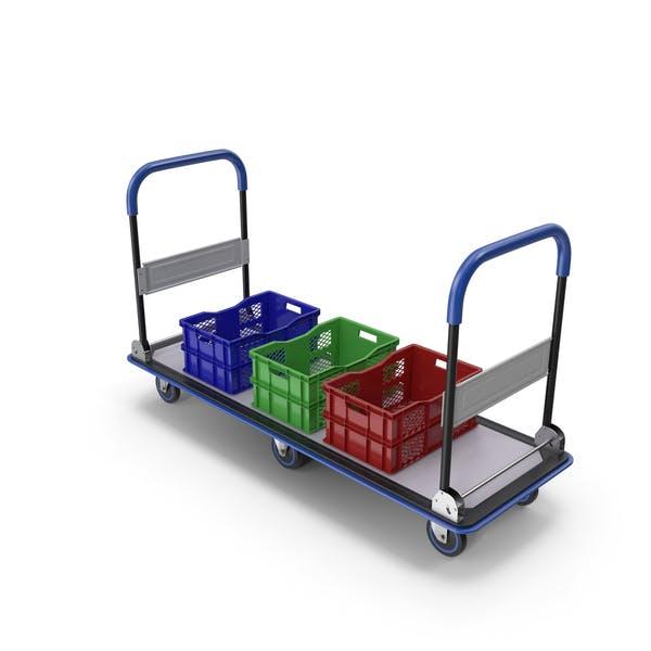 Carrito de servicio de mercado con cajas