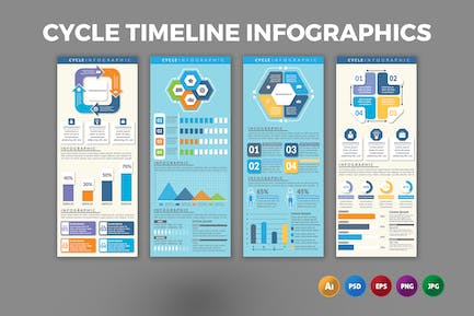 Cycle Timeline – Infographics Design