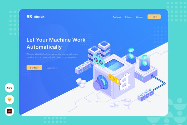 Thumbnail for Automatic Machine - Website Header - Illustration