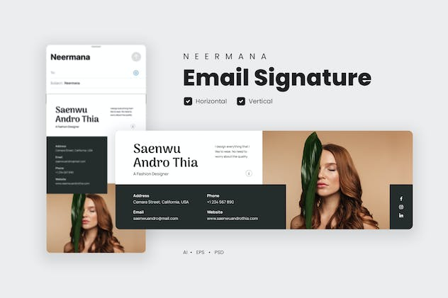 Email Signature Template V.39