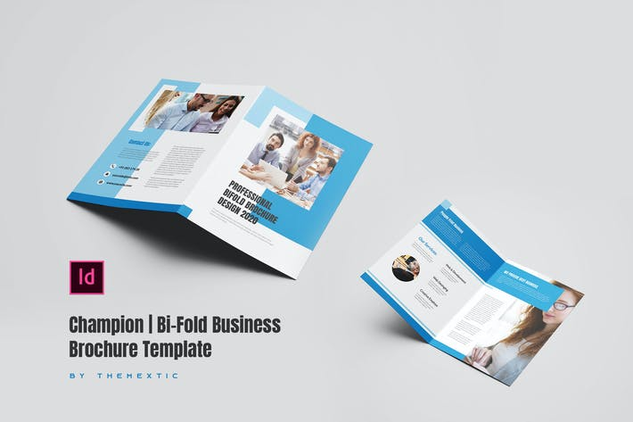 Thumbnail for Champion | Bi-Fold Business Brochure Template