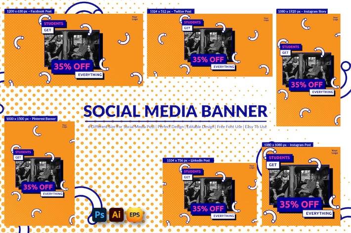 Thumbnail for Banner für soziale Medien für Studenten