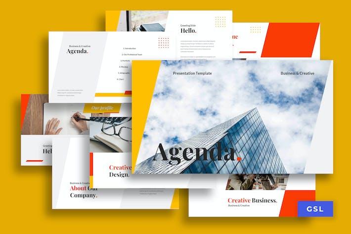 Thumbnail for Agenda - Business Googleslides Presentation