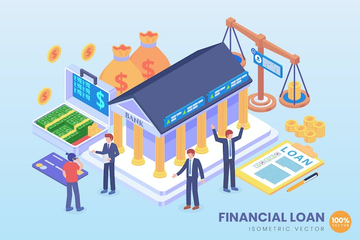 Thumbnail for Isometric Financial Loan Vector Concept