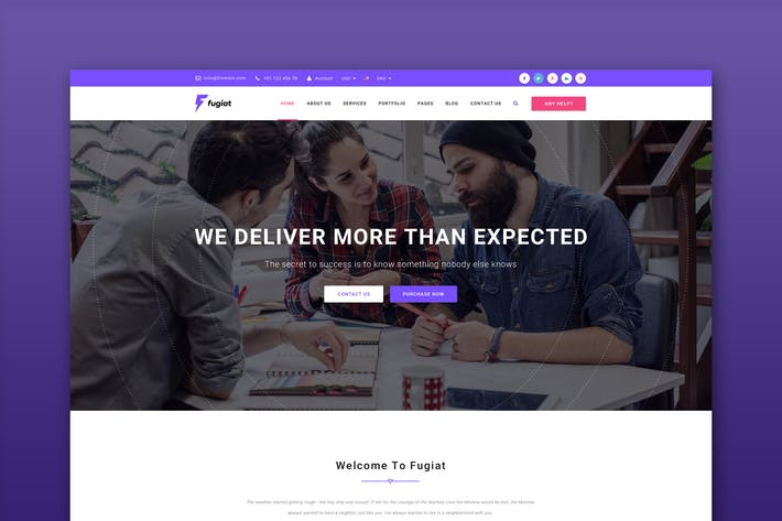 Thumbnail for Fugiat - Material Design HTML Template