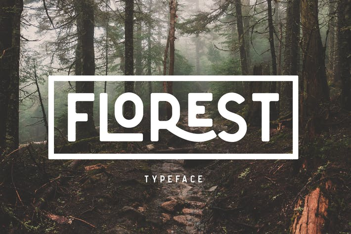 Thumbnail for The Florest Tipo de letra - Clean Elegant Stylist Font