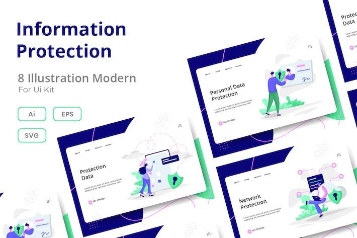 Thumbnail for Information Protection set Illustration