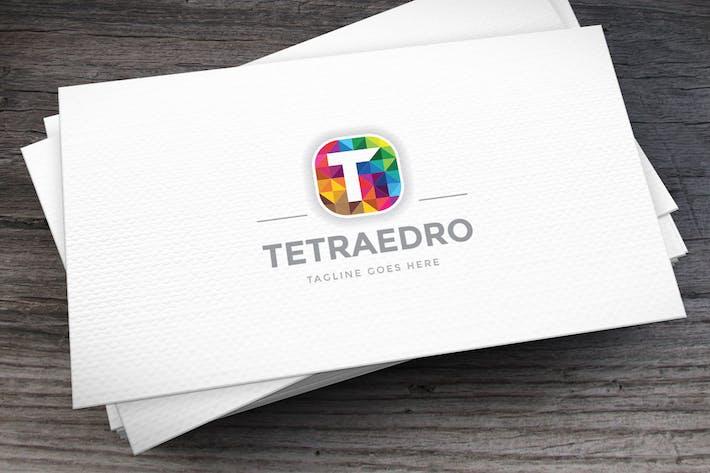 Cover Image For Tetraedro Letter T Logo Template