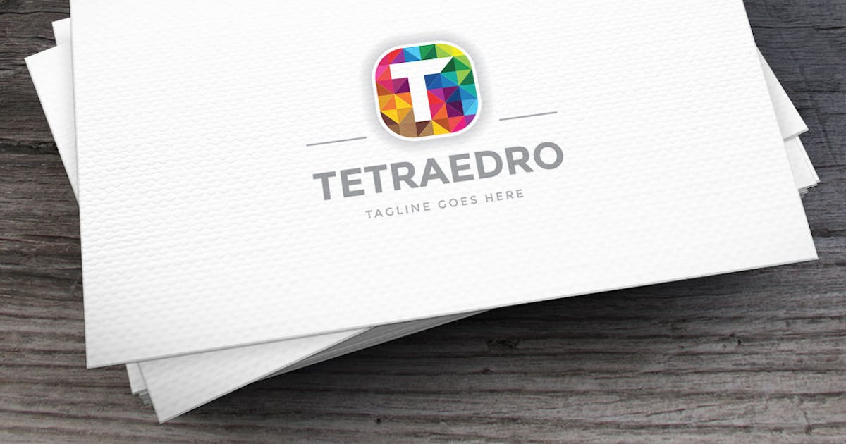 Download Tetraedro Letter T Logo Template by Unknow