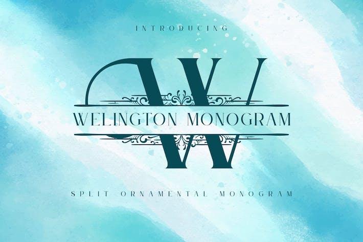 Thumbnail for Welington - Fuente de monograma dividida
