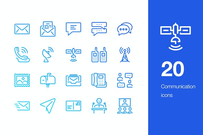Thumbnail for 20 Communication icons