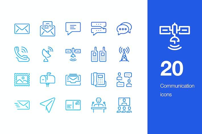 20 KommunikationssIcons
