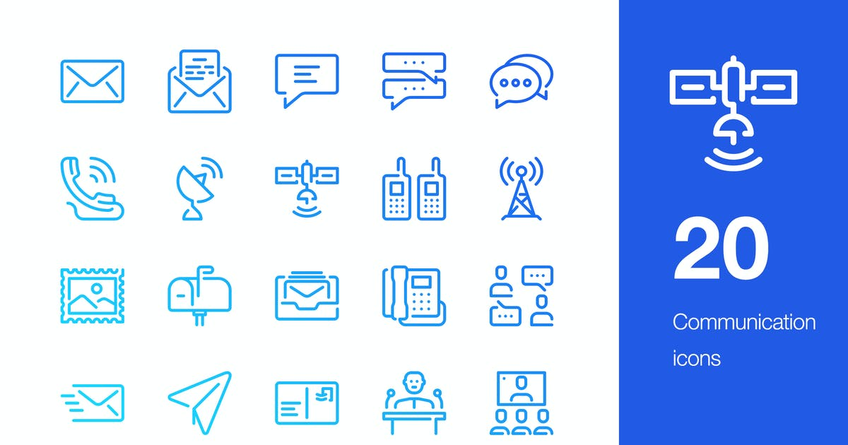 Download 20 Communication icons by mir_design