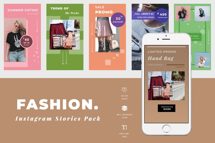 Thumbnail for Fashion Instagram Story Template