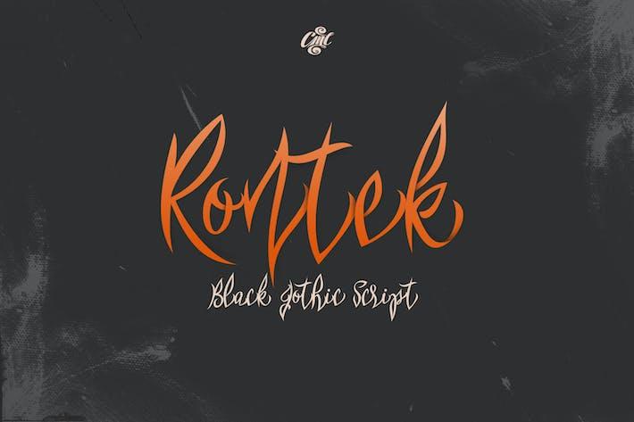 Thumbnail for Rontek - Black Gothic Script