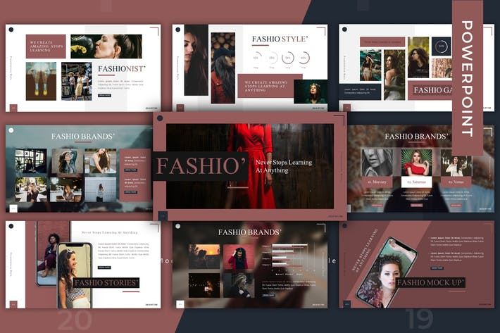 Thumbnail for Fashio - Powerpoint Template