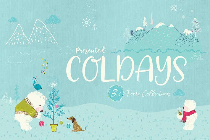 Thumbnail for Coldays Memories Trio Fonts + Webfonts