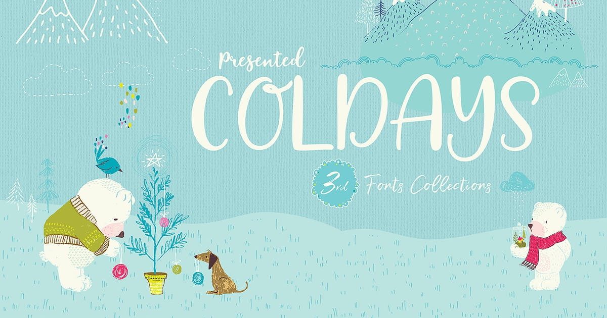 Download Coldays Memories Trio Fonts + Webfonts by Siwox