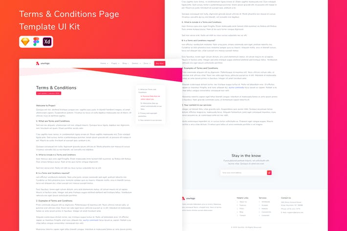 Thumbnail for Terms & Conditions Page Template UI Kit