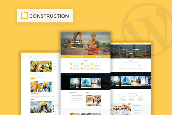 Thumbnail for Construction - Business & Building WordPress Theme