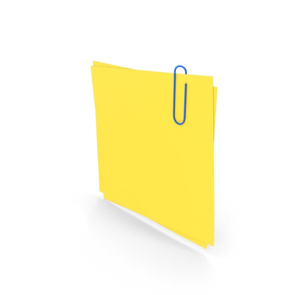 Yellow Papers With Paper Clip