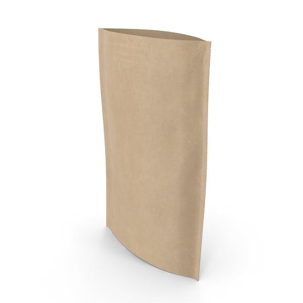 Zipper Kraft Paper Bag 400 g Open