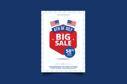 4th of July Sale Flyer / Poster