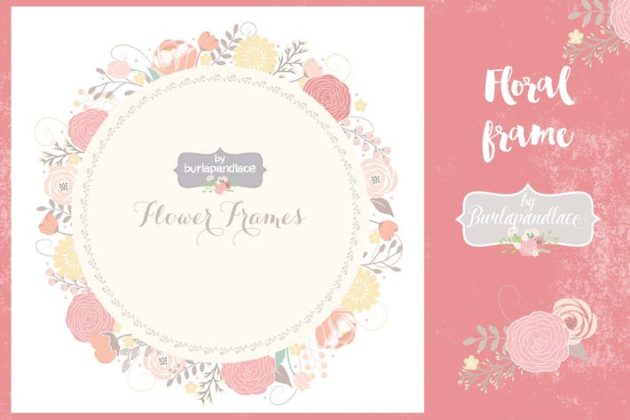 Thumbnail for Floral frame vector