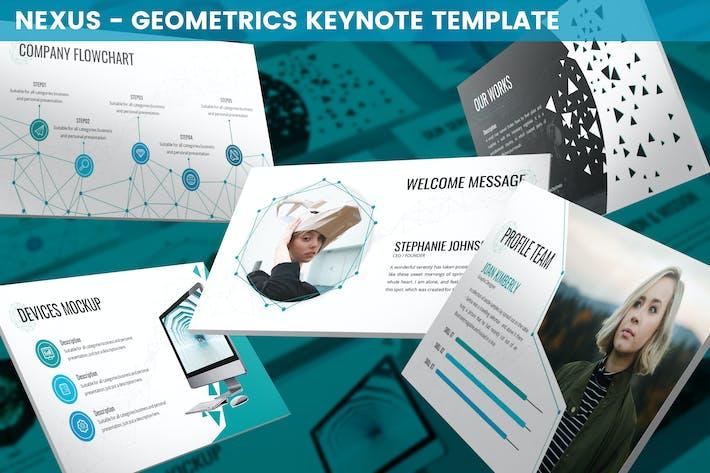 Thumbnail for Nexus - Geometrics Keynote Template