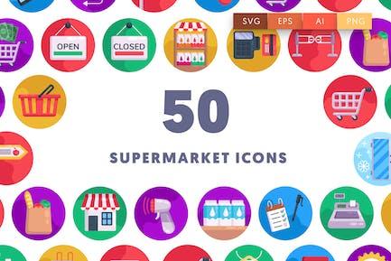 50 Supermarket Icons