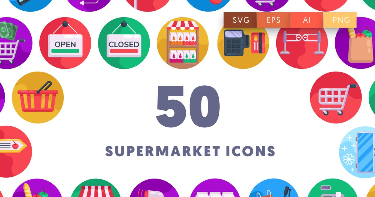 Download 50 Supermarket Icons by thedighital