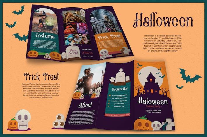 Thumbnail for Dark Cute Illustrations Halloween - Brochure