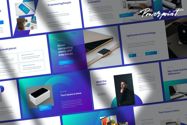 Thumbnail for Gadget - Tech Theme Powerpoint Template