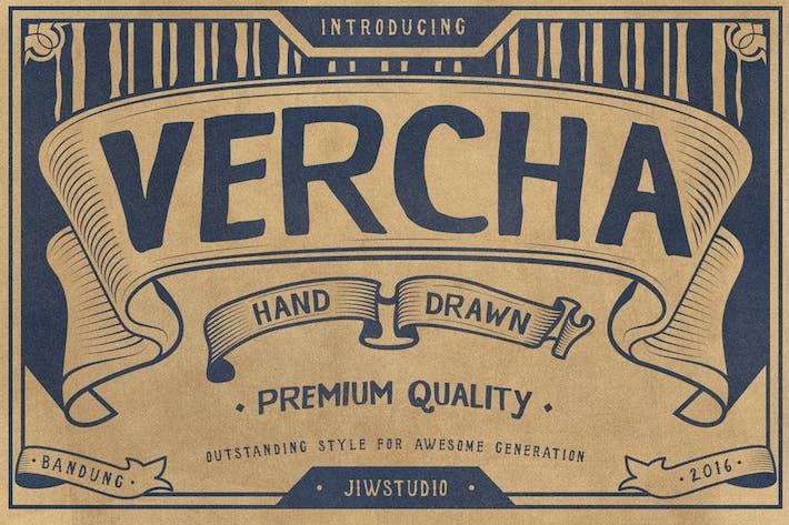 Thumbnail for VERCHA Typeface