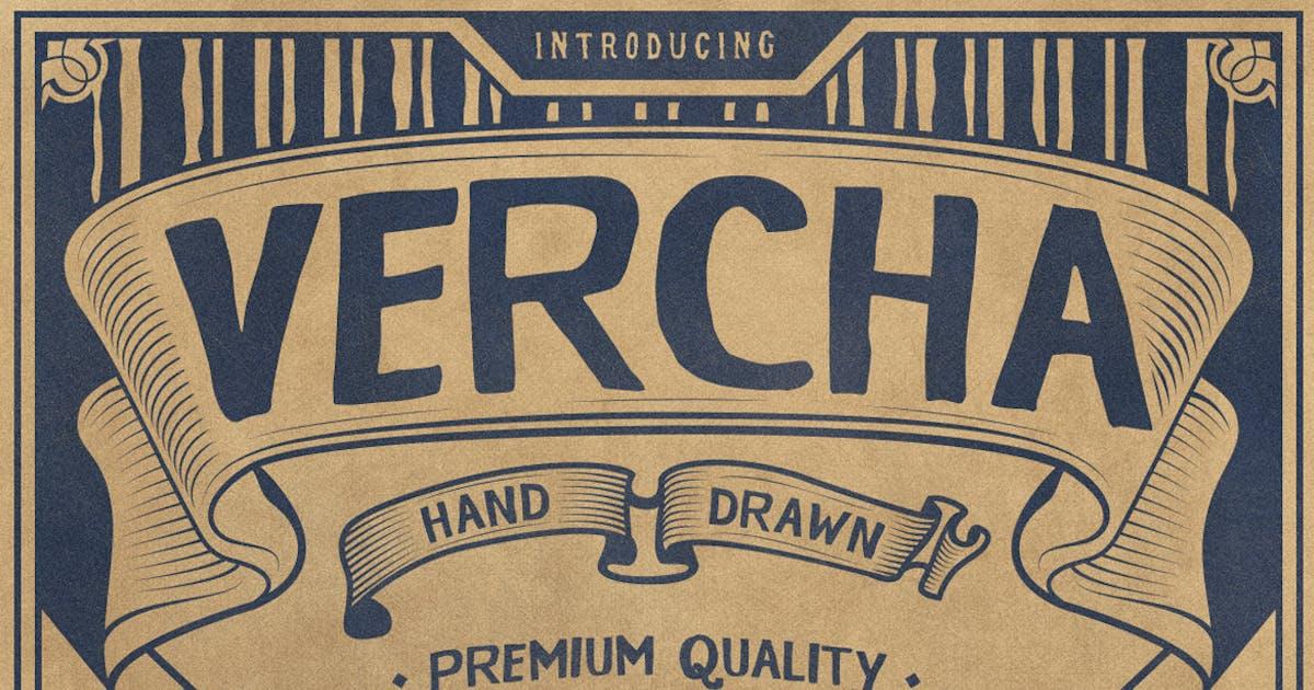 VERCHA Typeface by jiwstudio on Envato Elements