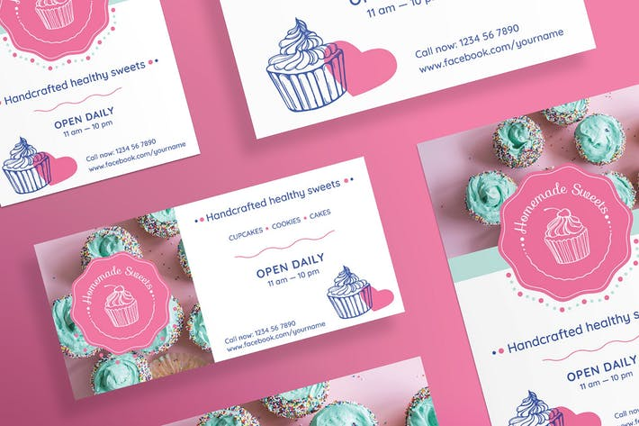 Cover Image For Handcrafted Sweets Flyer and Poster Template