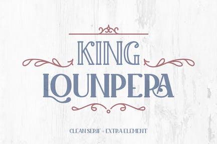 King Lounpera - Display Font