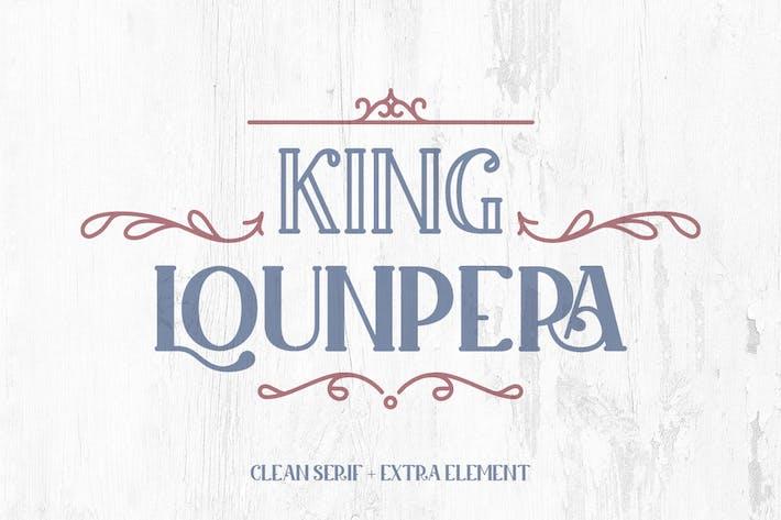 Thumbnail for King Lounpera - Display Font